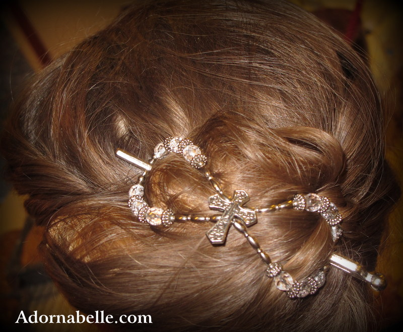 Adornabelle Lilla Rose Updo with Extra Large Size Flexi Clip