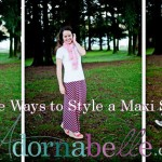 Three Cute Ways to Style a Maxi Skirt