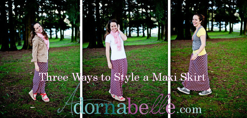 Three Ways to Style A Maxi Skirt on Adornabelle