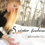 Five Winter Fashion Tips