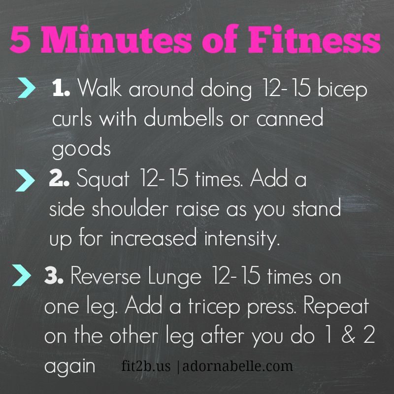 Making 5 Minutes of Fitness Count